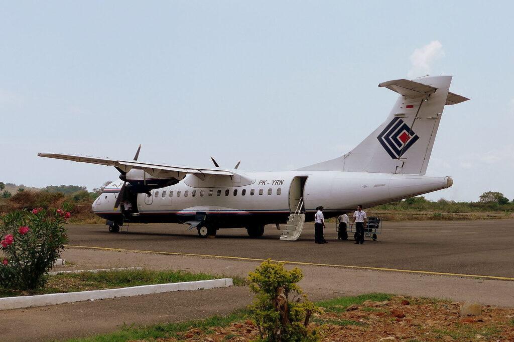 A Trigana Air plane.