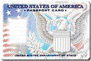 A U.S. passport card.