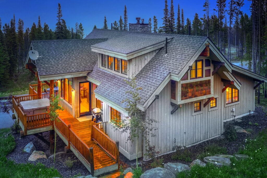 A vacation rental property in Big Sky, Montana.