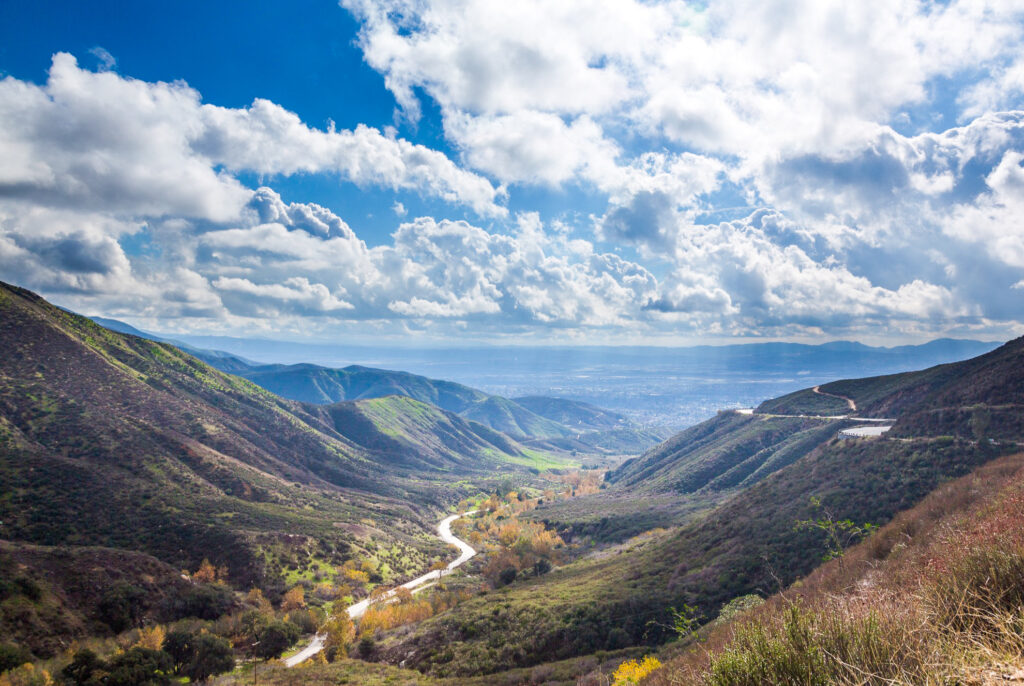 A valley in San Bernardino, California.