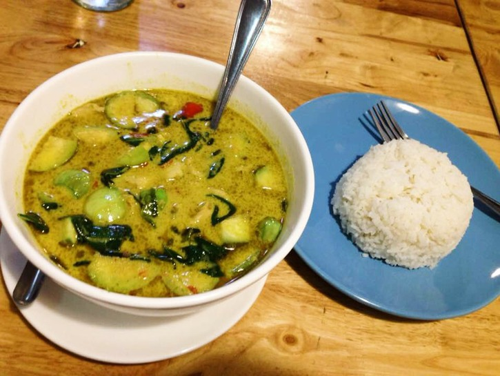 A very spicy and authentic Thai green curry from Bangkok.