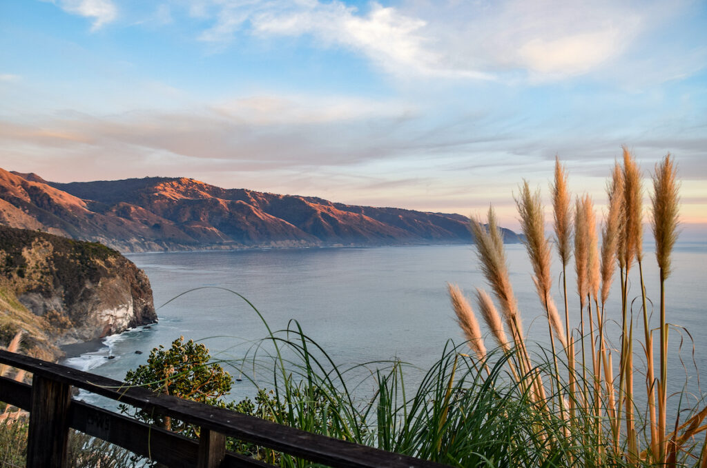 A view from iconic Lucia Lodge.