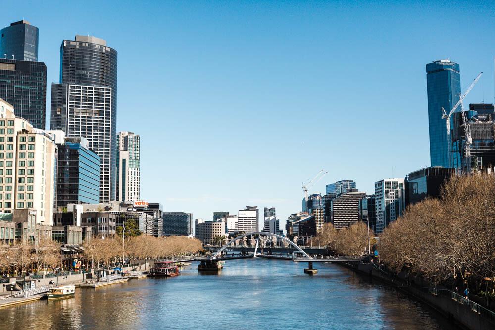 A view of downtown Melbourne, Australia.