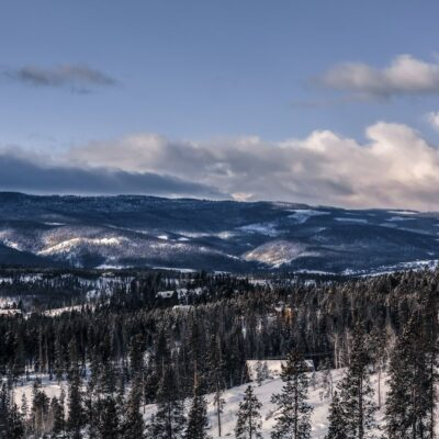 A view of the mountains in Winter Park.