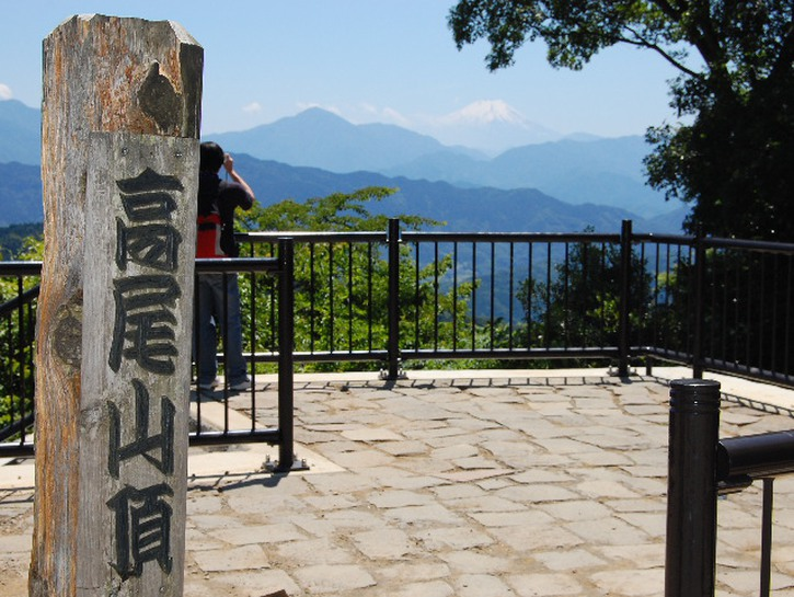 A viewing point on Mount Takao, near Tokyo