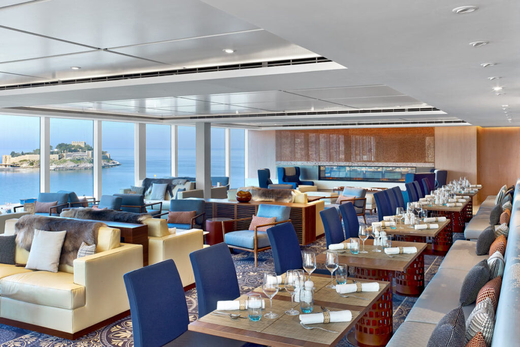 A Viking Cruise dining venue