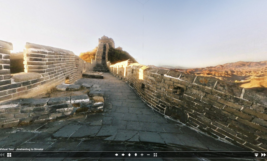A virtual tour of the Great Wall of China.