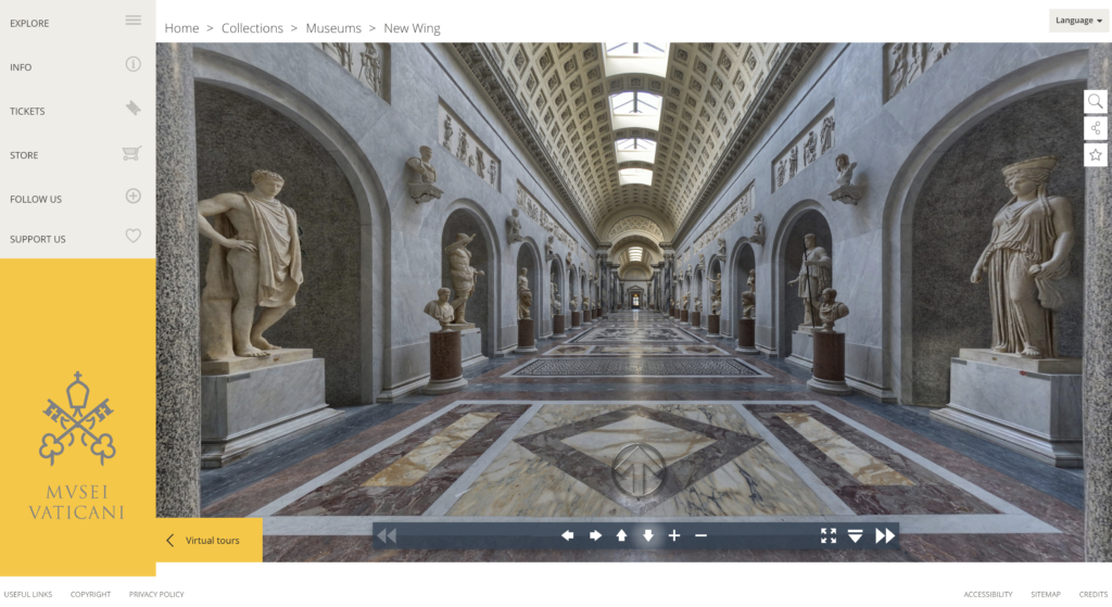 A virtual tour of the Vatican Museum.