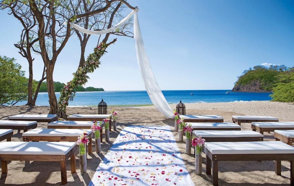 A vow renewal at Dreams Las Mareas in Costa Rica.