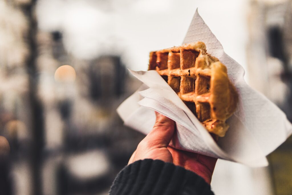A waffle from Antwerp.