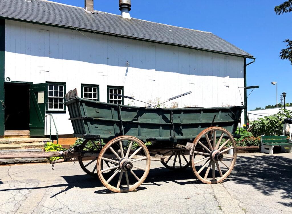 A wagon at the Amish Farm tour.