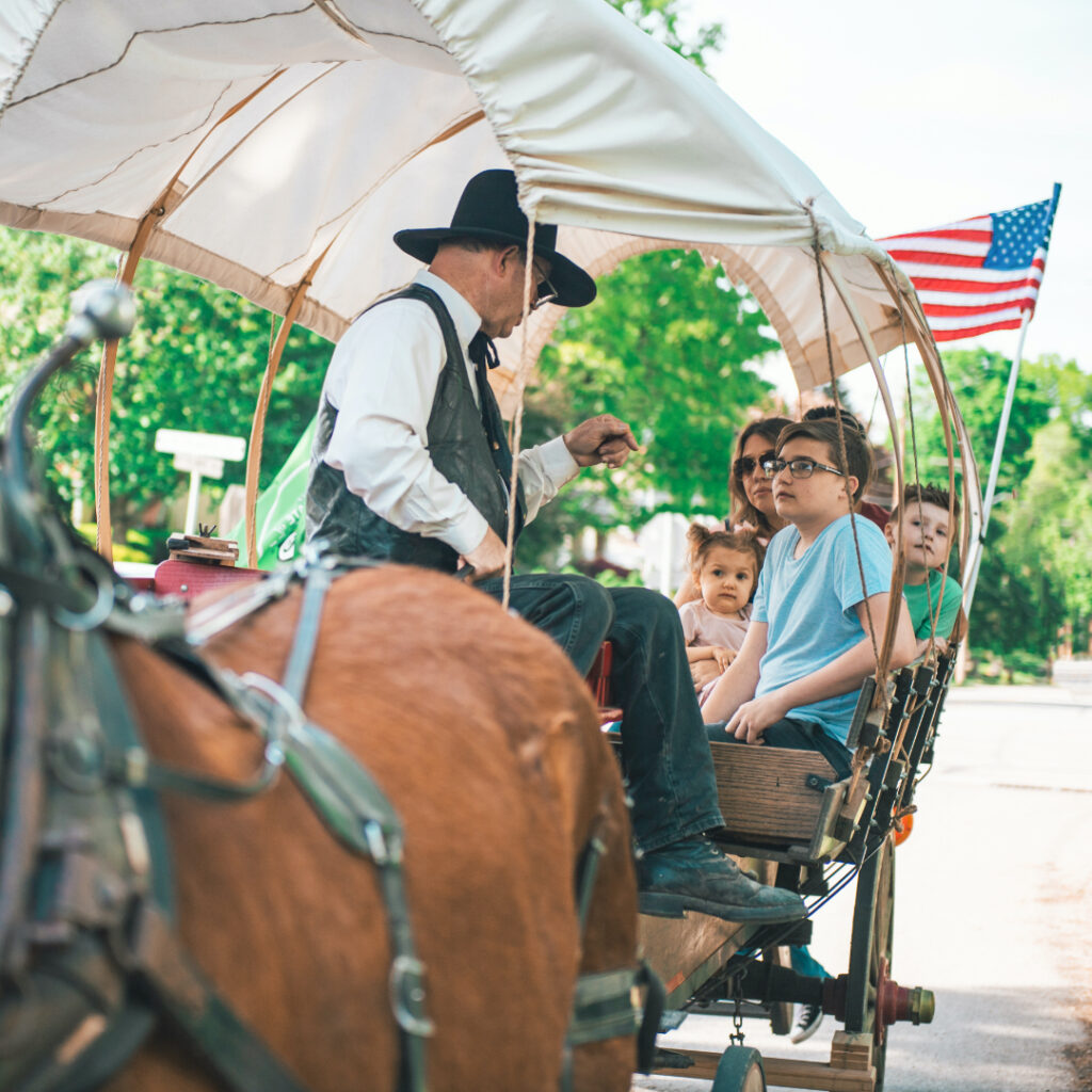 A wagon tour in Independence.