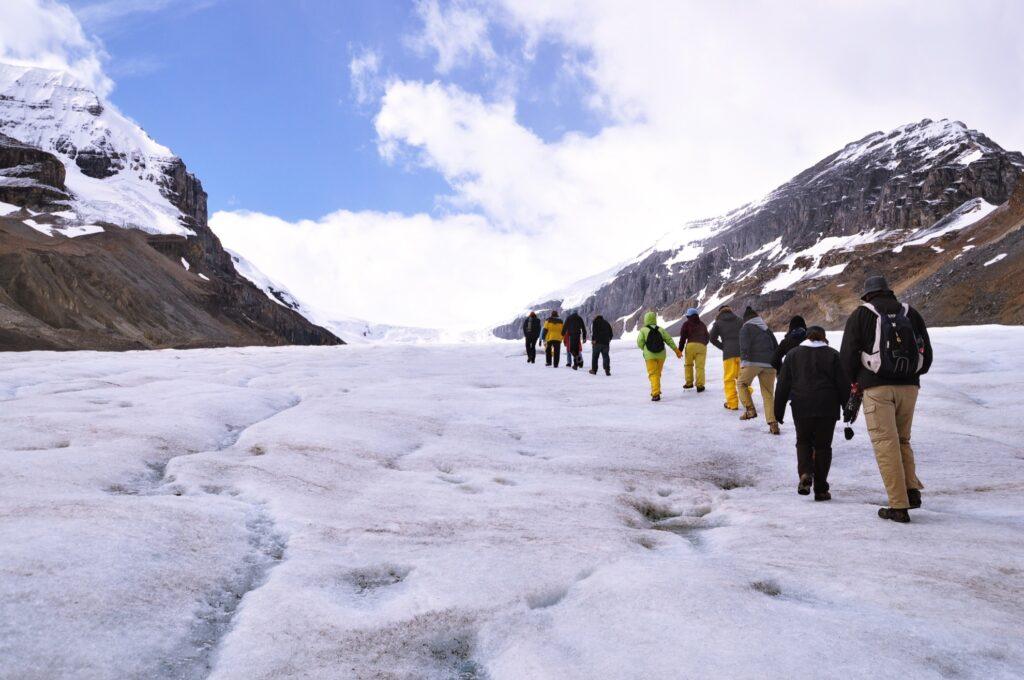 A walking tour of Athabasca Glacier.