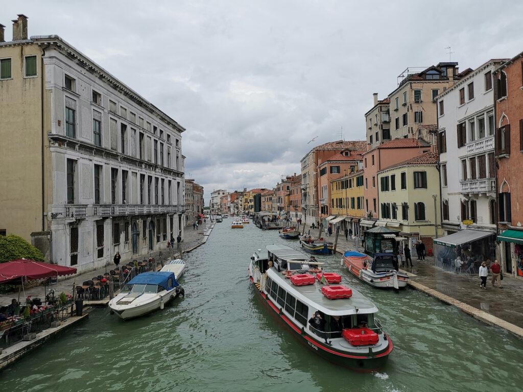 A waterbus in Venice, Italy.