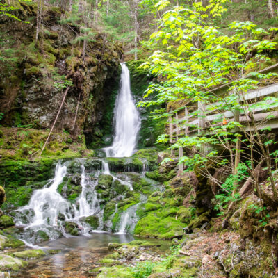 A waterfall in Canada's Fundy National Park.