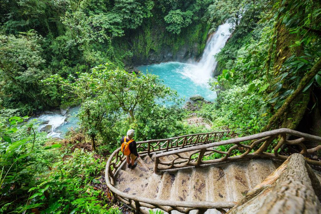 A waterfall in Costa Rica.