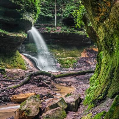 A waterfall in Indiana's Shades State Park.