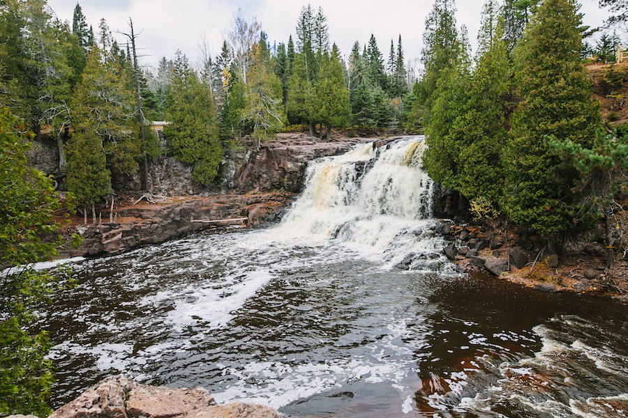 A waterfall in Minnesota's Gooseberry Falls State Park.