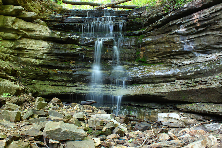 A waterfall in Monte Sano State Park.