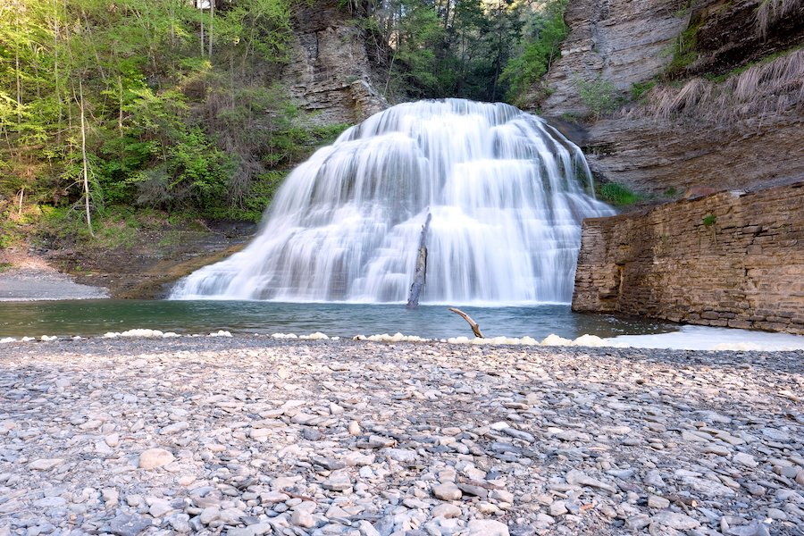 A waterfall in Robert H. Treman State Park.