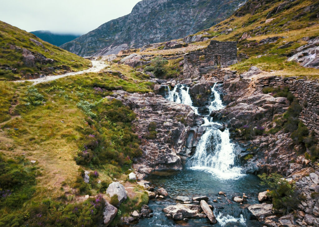 A waterfall in Snowdonia.
