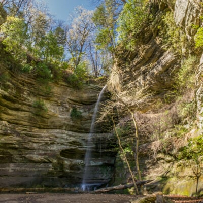 A waterfall in Starved Rock State Park, Illinois.