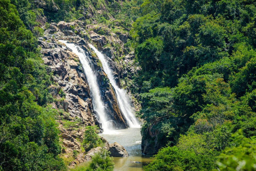 A waterfall in the Mantenga Nature Reserve in Eswatini.