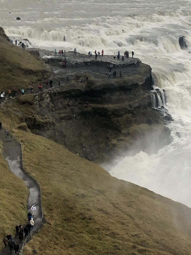 A waterfall near Thingvellir, Iceland.