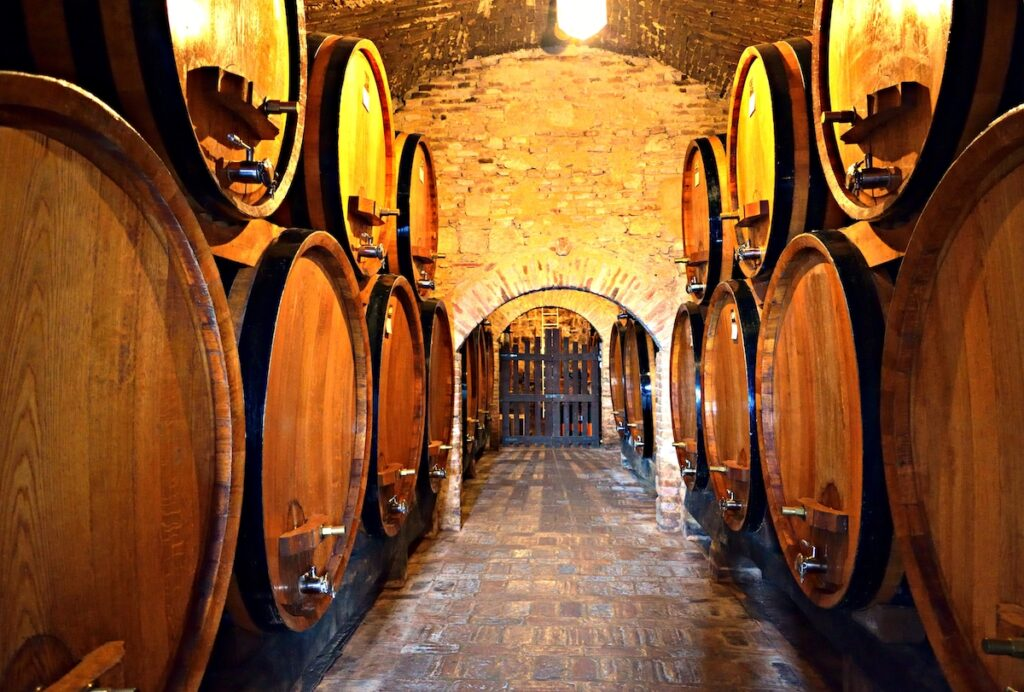 A wine cellar in Montepulciano, Italy.