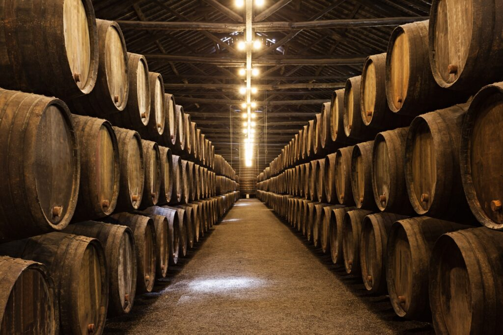 A wine cellar in Porto, Portugal.