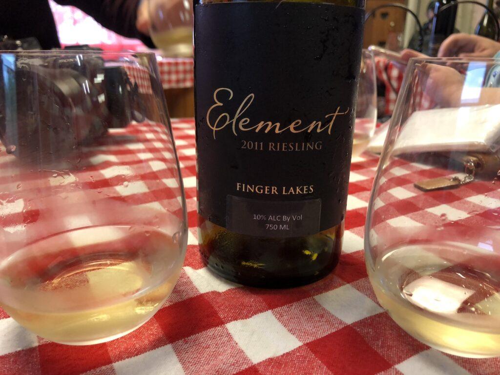A wine tasting along the Seneca Lake Wine Trail in New York.