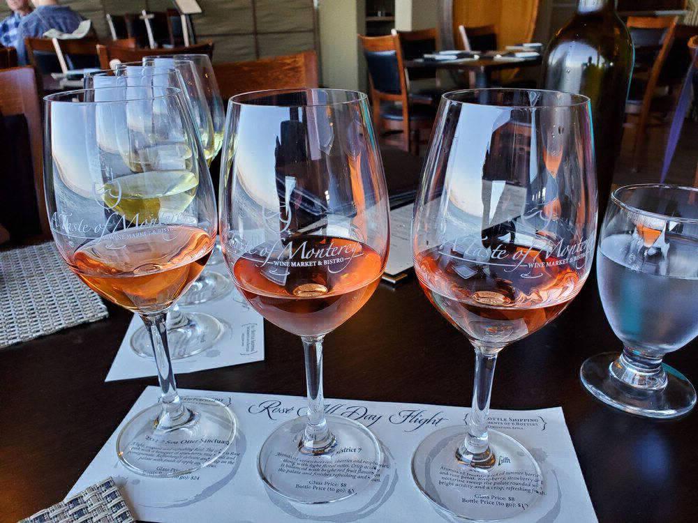 A wine tasting at Taste Of Monterey.