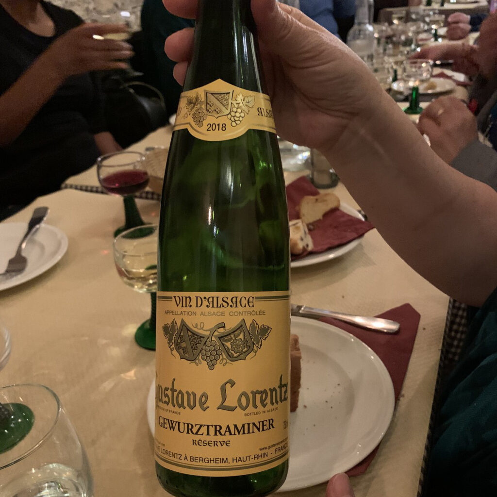 A wine the writer tried during her wine river cruise.