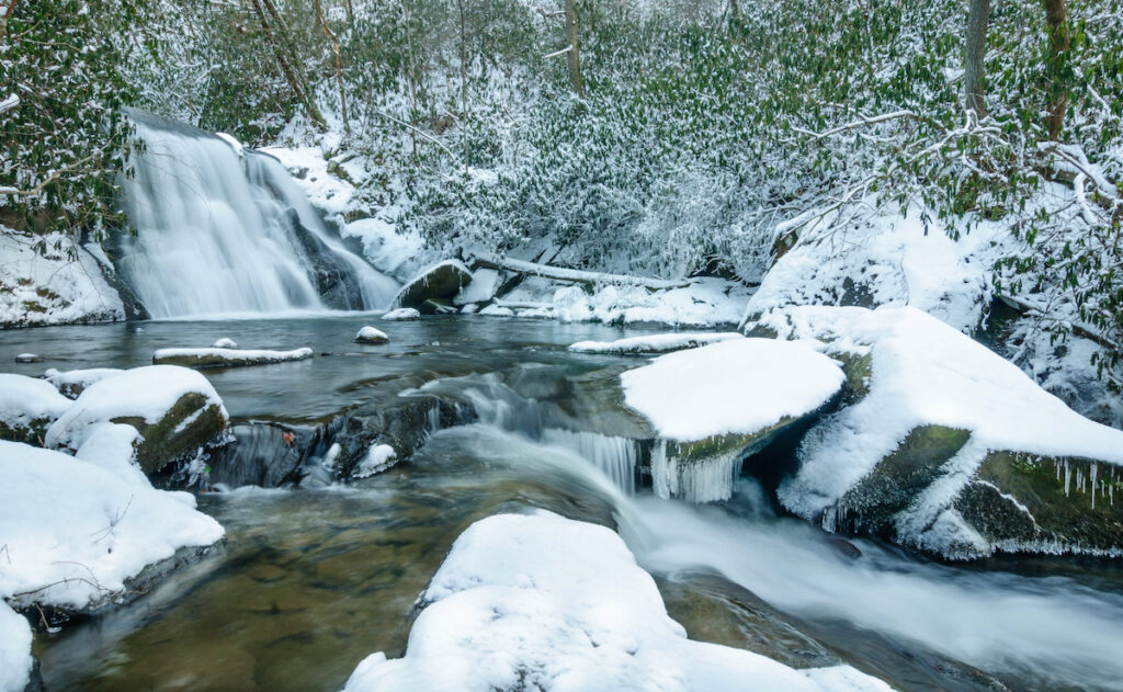 A winter day at Great Smoky Mountains National Park.
