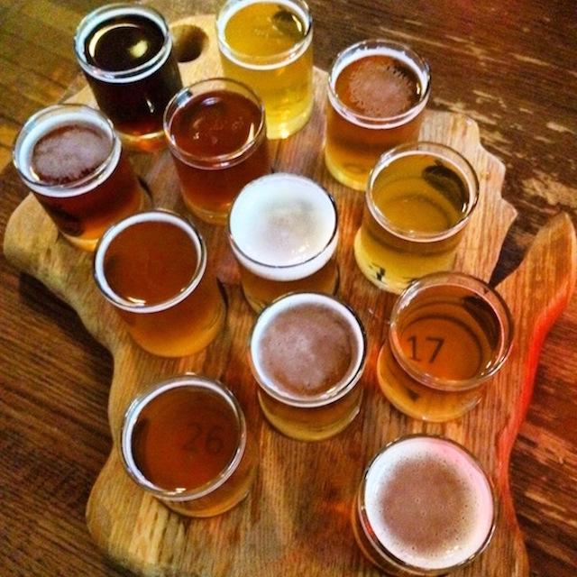 A Wisconsin beer tasting.