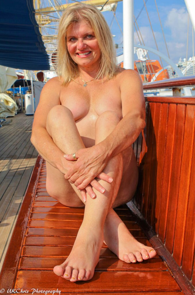 """A woman on a """"nakation."""""""