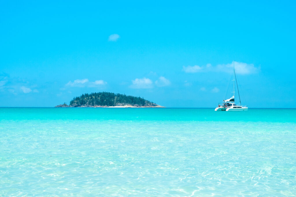 A yacht in the Whitsunday Islands.