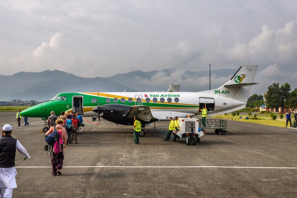 A Yeti Airlines plane in Nepal.
