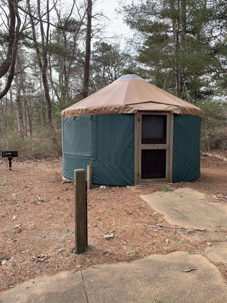 A yurt in the park.