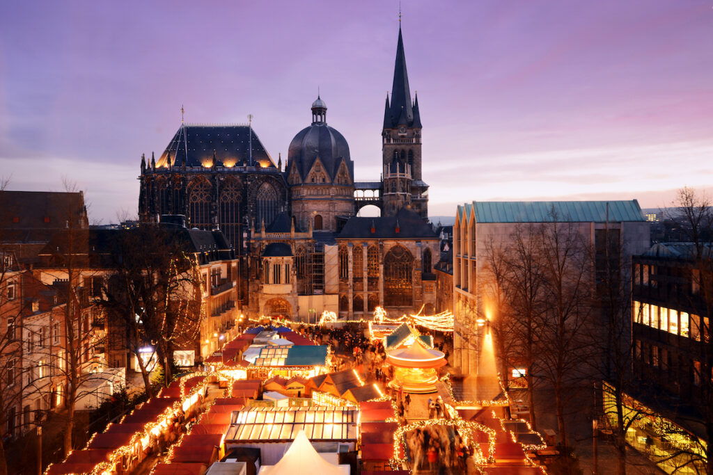 Aachen Christmas Market in Aachen, Germany.