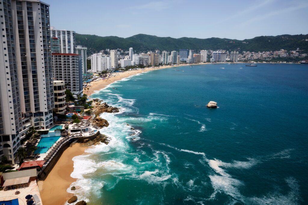 Acapulco bay in Mexico.