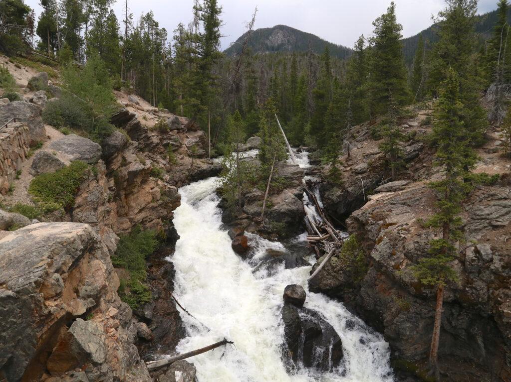 Adams Falls in Rocky Mountain National Park.