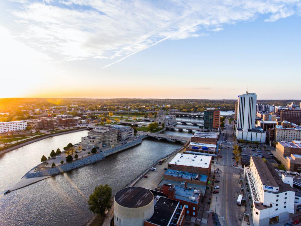 Aerial photo, Cedar Rapids, Iowa.