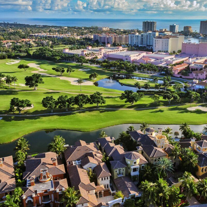Aerial view, Boca Raton, Florida.