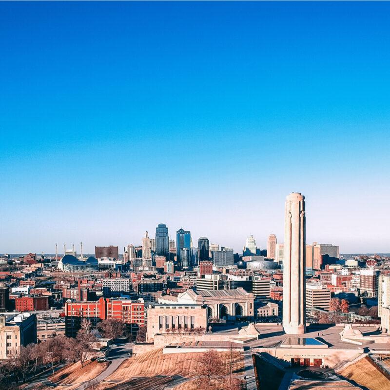 Aerial view Kansas City, Kansas
