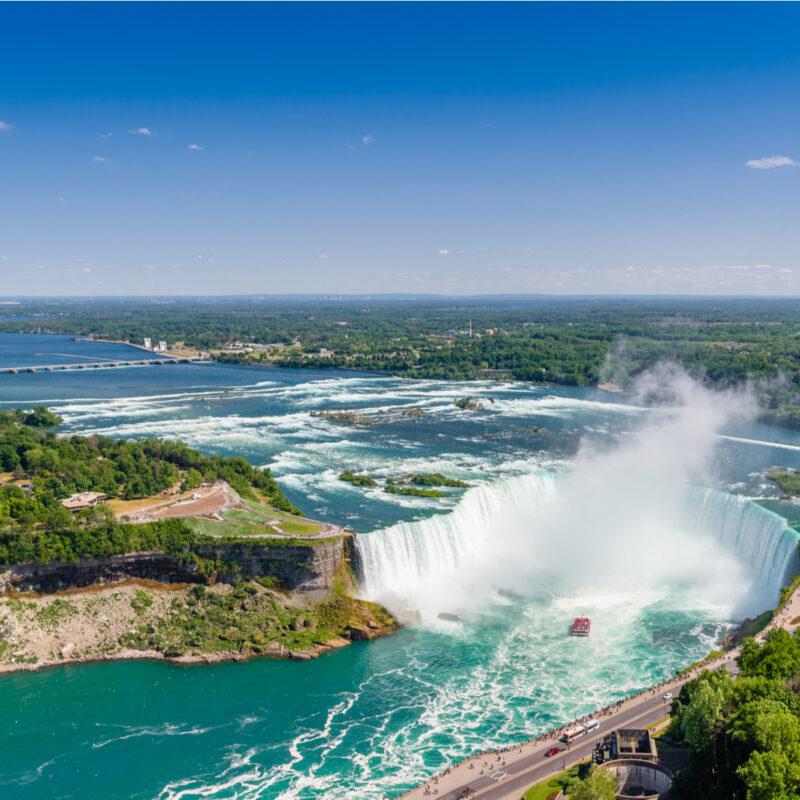Aerial view, Niagara Falls, Horseshoe Falls.
