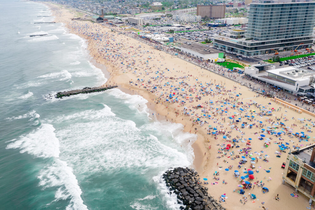 Aerial view of Asbury Park, New Jersey.