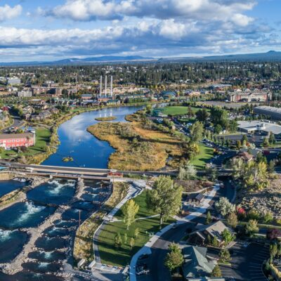 Aerial view of Bend, Oregon.