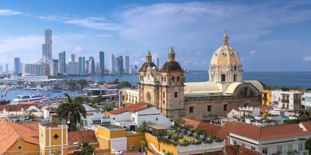 Aerial view of Cartagena, Colombia.