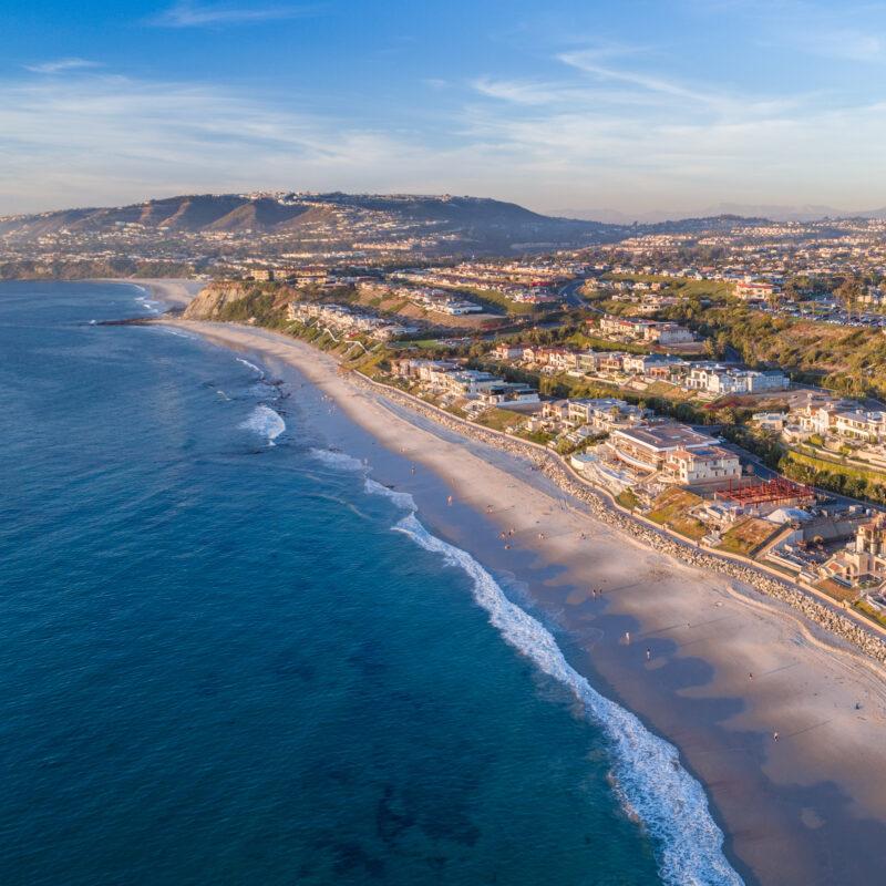 Aerial view of Dana Point, California.